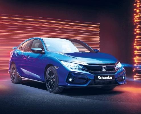 Honda Civic 2020 Facelift blau